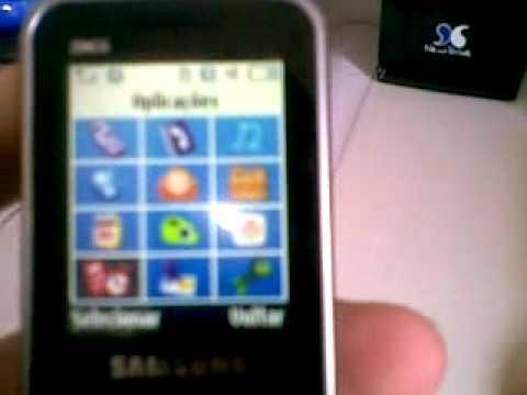 Samsung E3210 - Demonstração rápida: Java (Google Maps) e cartão de memória.