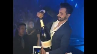 Fail Man opens a magnum of champagne 34,000 euros in Ibiza