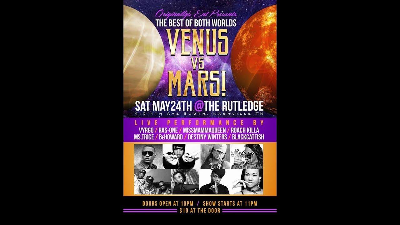 Originally's Ent Presents : Venus vs Mars Showcase @The Rutledge