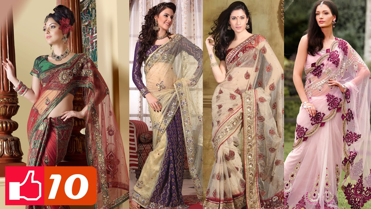 321458f40f5 Top 10 Latest Indian Sarees ▻ Styles and Designs - YouTube