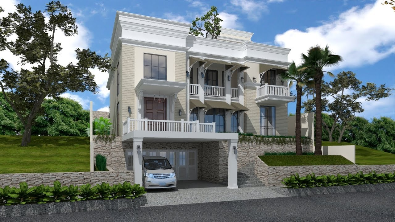 Sketchup house exterior design 4 vray 3 4 render youtube for Setting render vray sketchup exterior