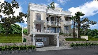 Sketchup House Exterior Design 4 + Vray 3.4 Render