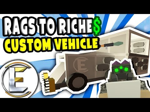 CUSTOM VEHICLE SHOP | Unturned Roleplay Rags to Riches Reboot #20 - Building A Shop (RP)