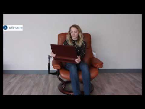 How To Stow Your Stressless Recliner Chair Personal Computer Table