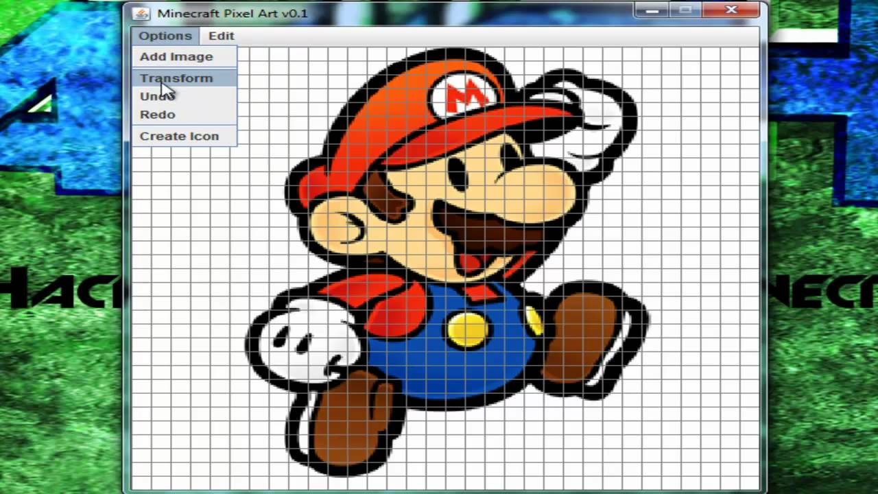 Tutofr logiciel pour le pixel art minecraft youtube - Logiciel simple pour faire des plans ...