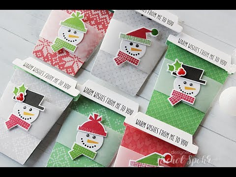 Handmade Holiday 2017 | Holiday Coffee Cup Gift Card Holders
