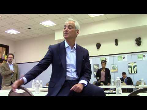 Mayor Rahm Emanuel Visits Senn High School