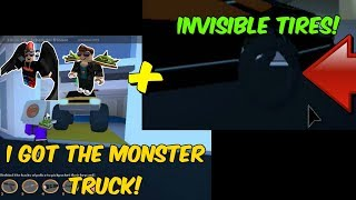 Getting the Monster Truck on Jailbreak + Invisible Tires Glitch, feat. wi687 and Mrwolfsers | ROBLOX