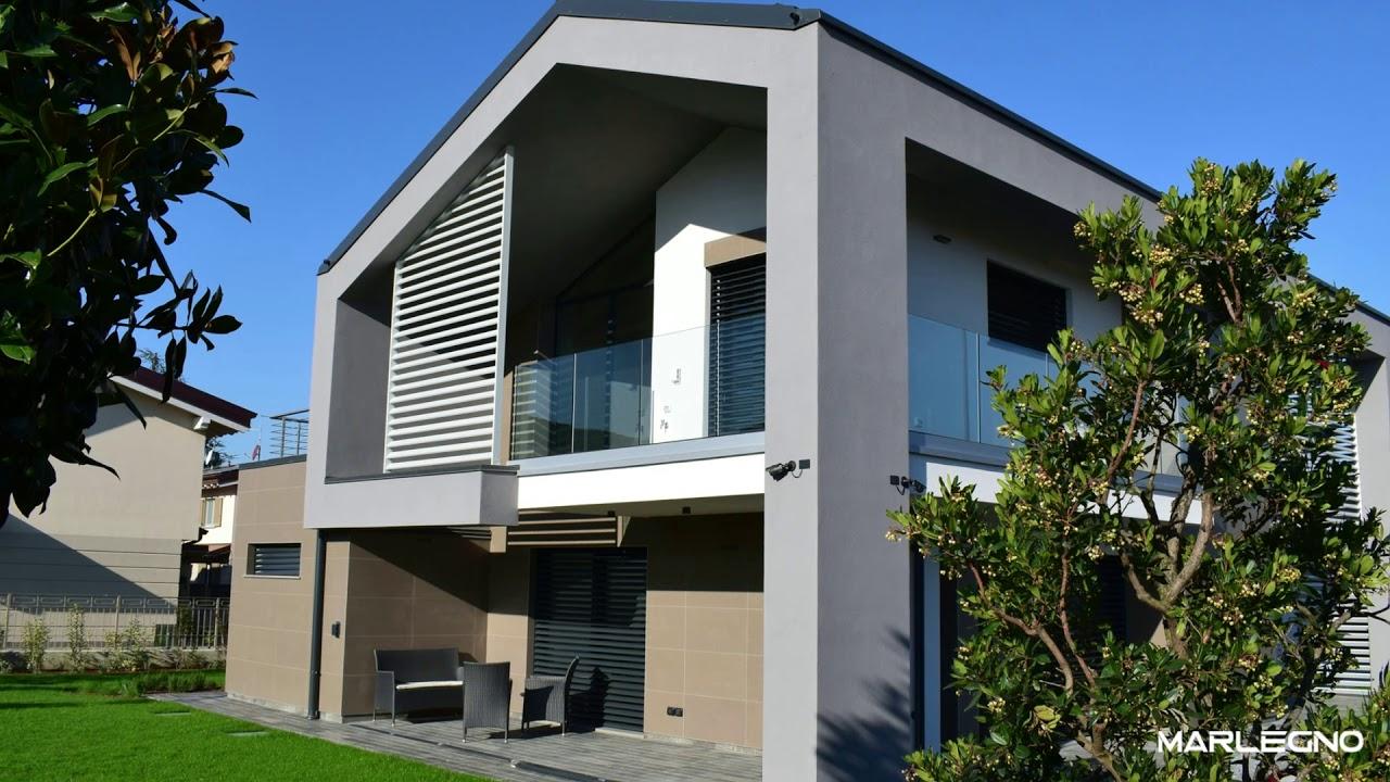 Villa unifamiliare in legno treviglio youtube for Villa moderna progetto