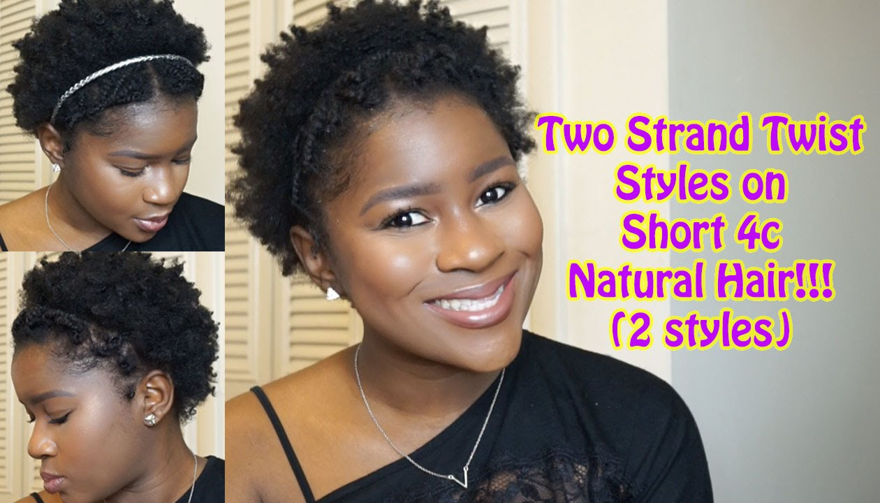 Two Strand Twist Styles On Short 4c Natural Hair!!!(2
