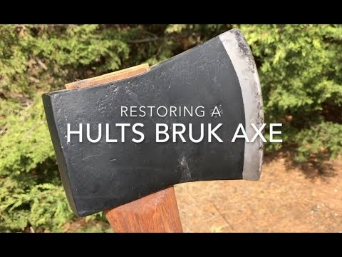 How to restore a Hults Bruk axe-head and fit a new handle