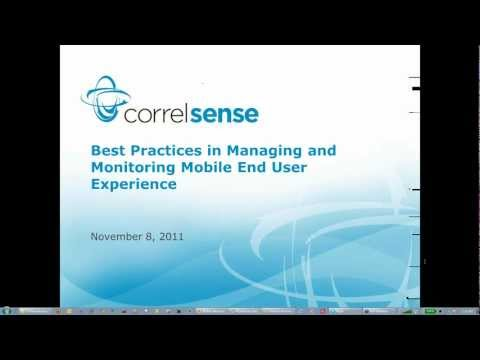 Best Practices in Managing and Monitoring Mobile End User Experience