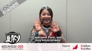 [ Video saludo de You Kikkawa Natsu Matsuri 2015 Perú ]