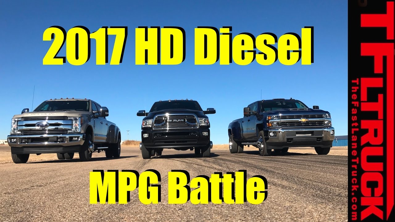 2017 Chevy Hd Vs Ford Sd Vs Ram Hdsel 22800 Lbs Towing Mpg Review