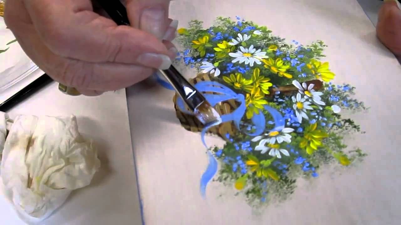 floral techniques free lesson of decorative painting by ros stallcup demo 22 youtube - Decorative Painting