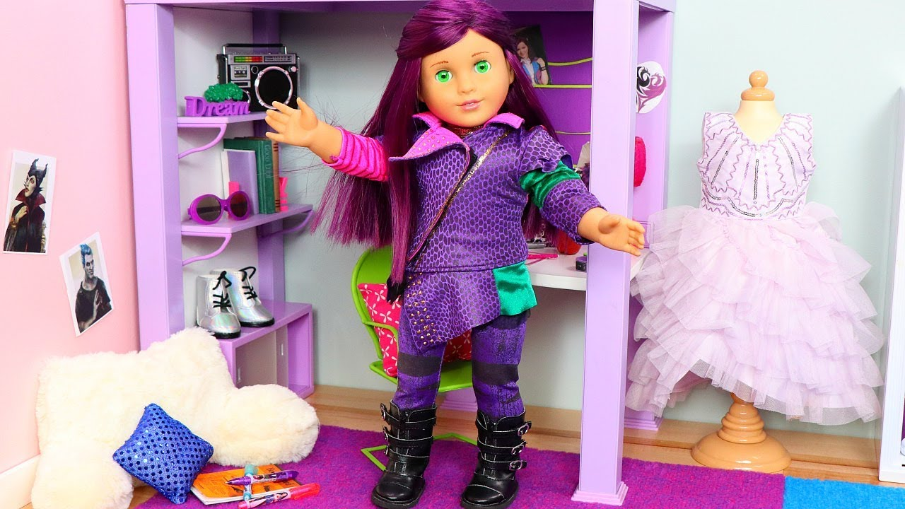 American Girl Doll Bedroom for Disney Descendants 3 Mal