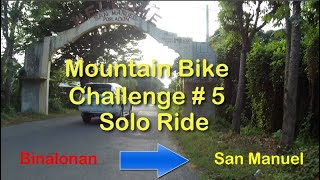 Mountain Bike Challenge  Binalonan to San Manuel