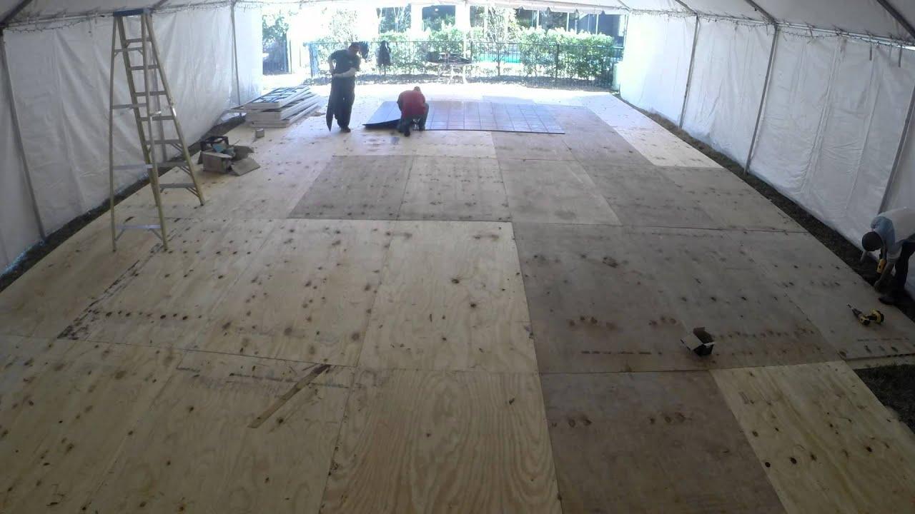 Flores Party Rentals Tent Flooring 30 X 50 Frame Tent