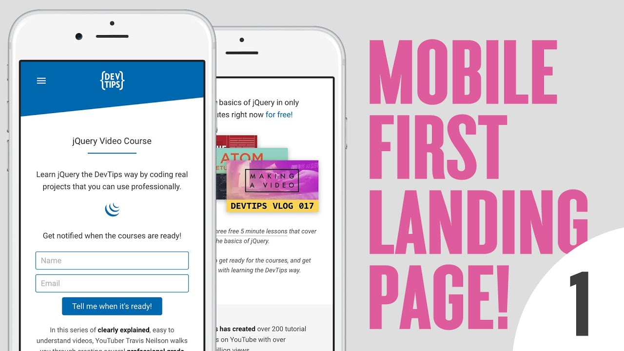 Design Code A Mobile First Landing Page 1 4 Youtube