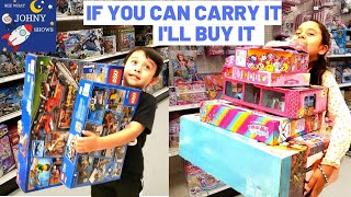 Anything You Can Carry I'll Buy It Challenge  Toy Hunt For New Toys