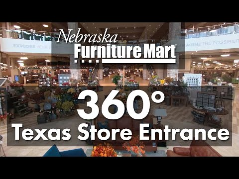 Nebraska Furniture Mart Texas Store Entrance- 360 Degree Video