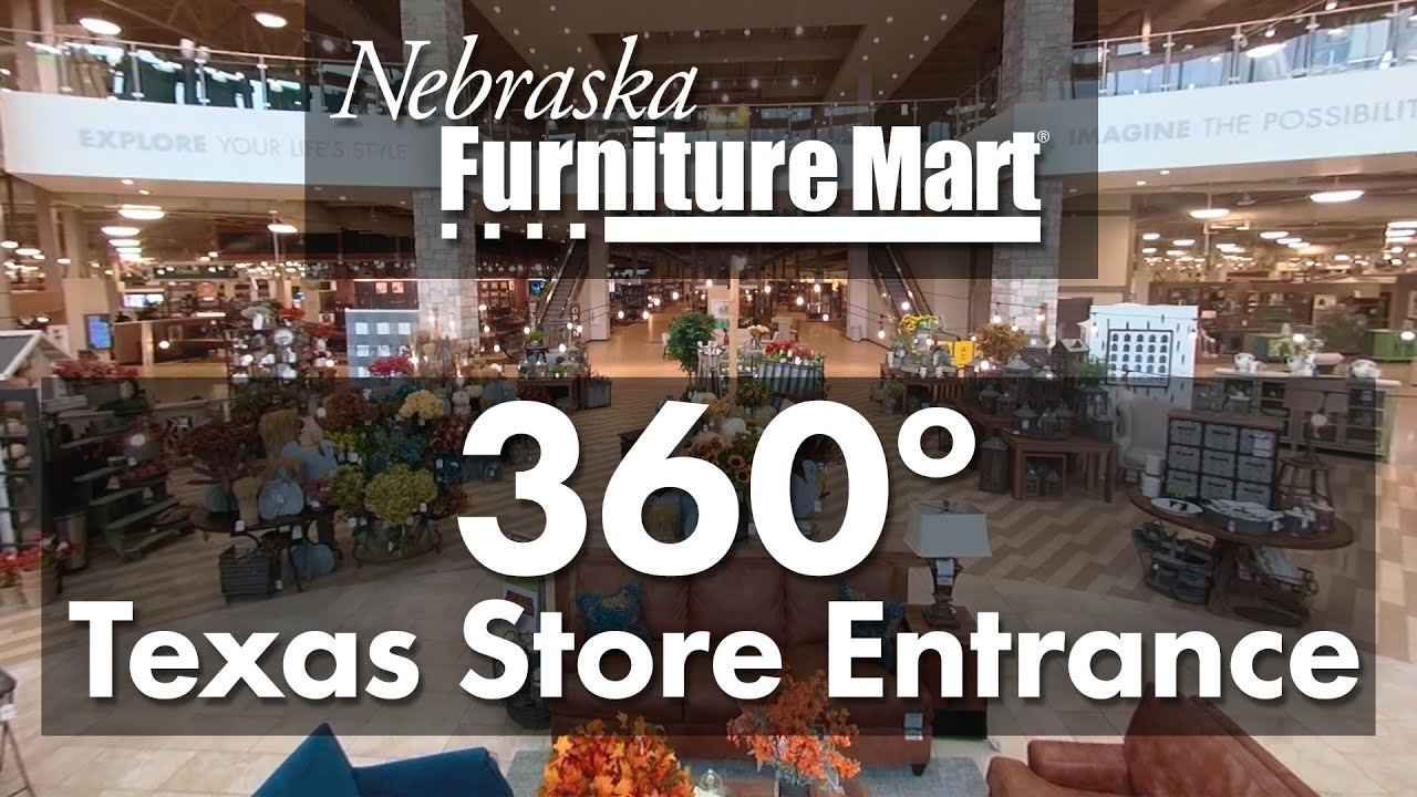 Nebraska Furniture Mart Texas Store Entrance 360 Degree Video Youtube