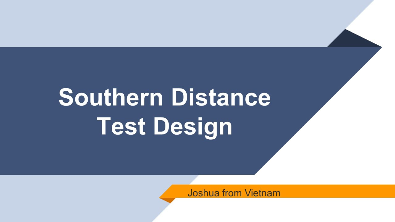 Design: Southern Distance Test to Verify the Surface Shape of the Earth
