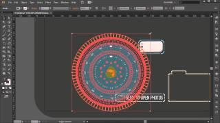 Разработка в Illustrator футуристического меню. Урок 1.