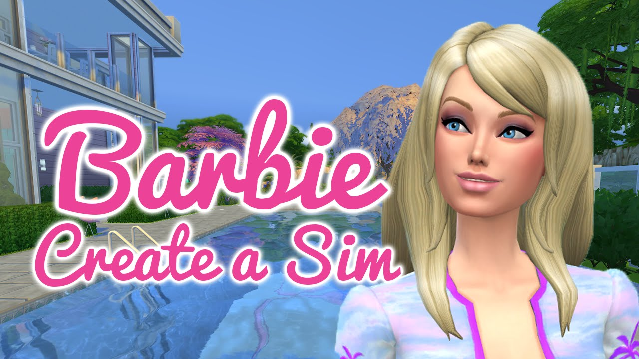 The sims 4 cas barbie doll youtube for Dream house builder online free