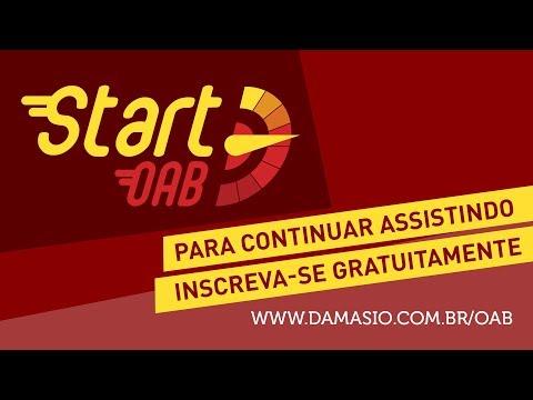 Start OAB - Damásio - Primeiro evento da maratona preparatória para o Exame XXVII