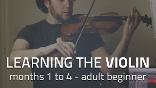 Learning the violin (months 1 to 4) - adult beginner progress
