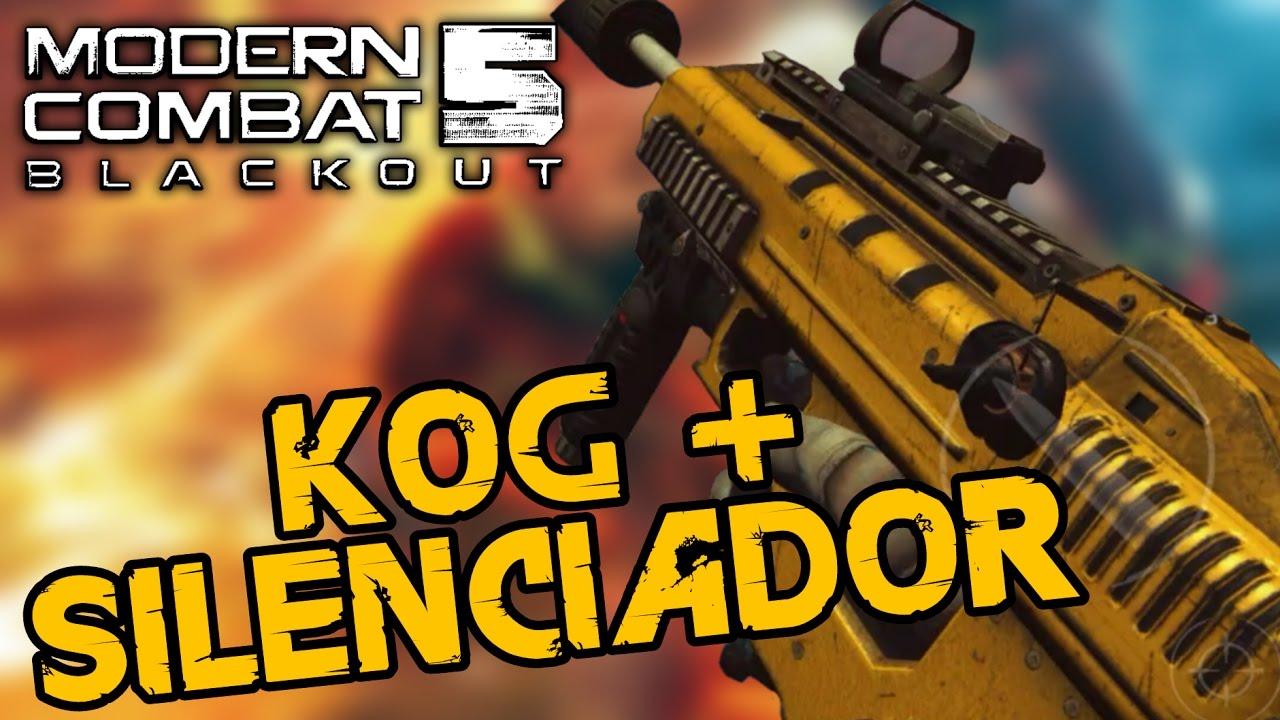 Modern Combat 5 - KOG + SILENCIADOR | Combinação Perfeita