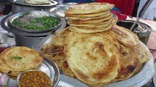 Desi Paratha Ka Taste   People are Eating Paratha In Roadside Food Center   Street Food India