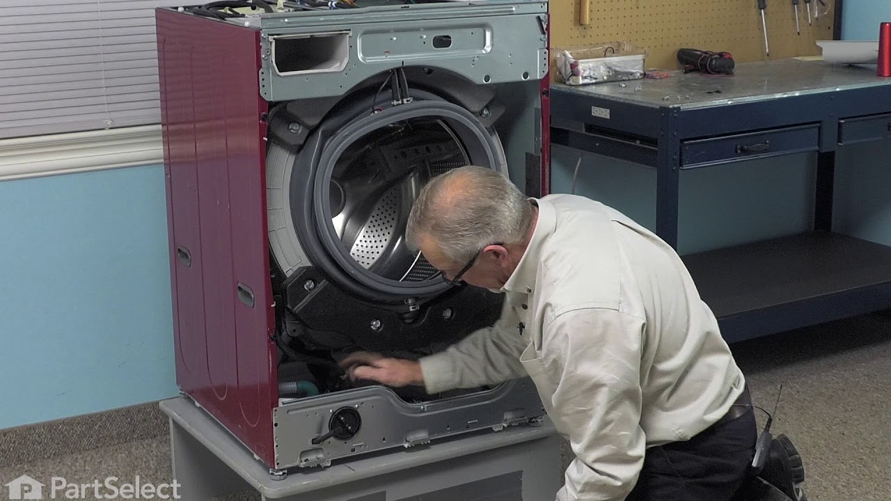 medium resolution of lg washer repair how to replace the tub to pump hose lg part 4738er1002a