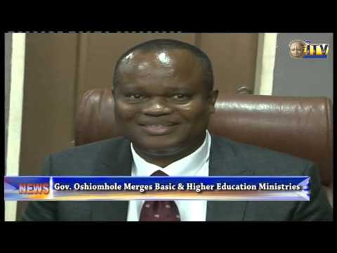 Governor Adams Oshiomhole Merges Basic And Higher Education Ministries
