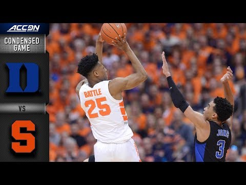 Duke vs. Syracuse Condensed Game | 2018-19 ACC Basketball