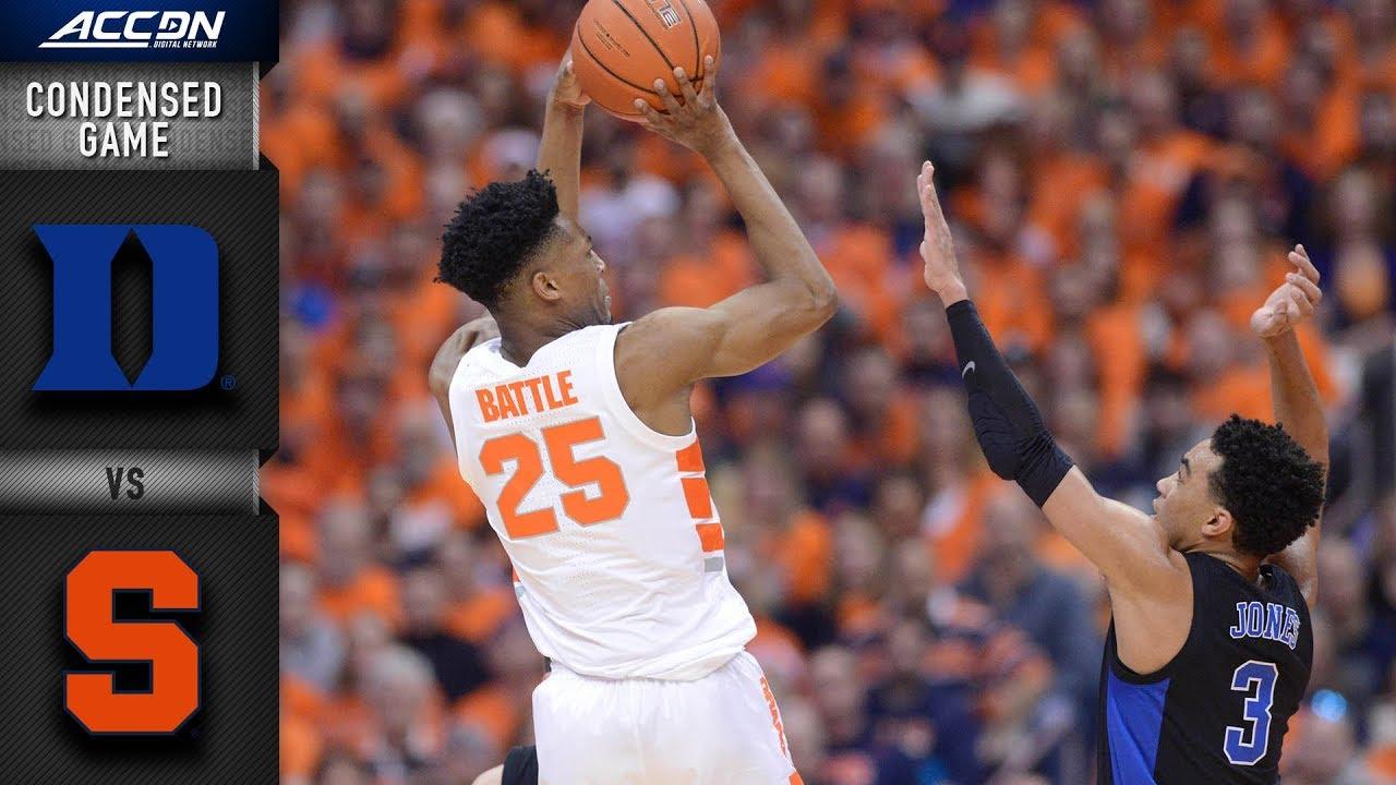 Duke Vs. Syracuse Condensed Game