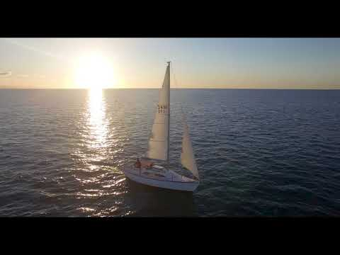 Mana Island and Porirua Harbour sunset sailing