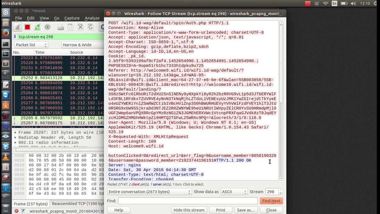 how to find wifi password wireshark