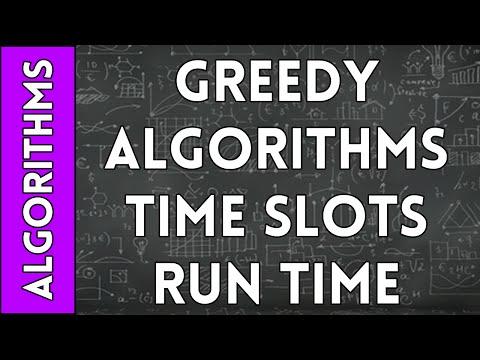 Greedy Algorithm for Time-Slot Interval Optimization Run Time Analysis