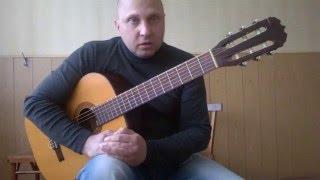 Самая простая мелодия на гитаре.Урок