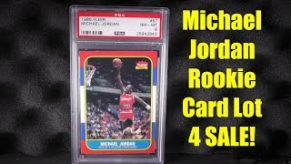 1986 Fleer Michael Jordan Rookie #57 and Rookie Sticker