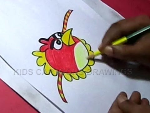 How to Make Handmade Angry birds Rakhi Drawing Step by ...