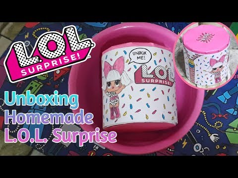 HOMEMADE LOL SURPRISE UNBOXING! DIY LOL SURPRISE DOLL