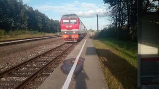 ТЕП70БС ( 100 ) пригородный поезд Галич - Кострома