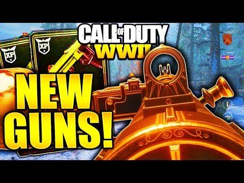 9 SECRET GUNS IN COD WW2! NEW DLC GUNS CALL OF DUTY WORLD WAR 2 DLC MAPS and GUNS LEAKED!