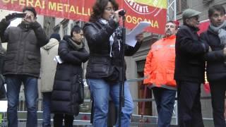 MANIFESTAZIONE FIRENZE CON SCIOPERO CGIL/FIOM 5/12/2012 MONICA MARIANI(BREDA)