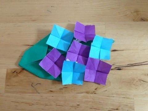 クリスマス 折り紙 折り紙 あじさい 作り方 : youtube.com