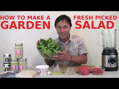 How to Make a Fresh Picked Garden Salad that Everyone Will E