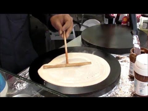 Paris London Street Food Making French Crepes Youtube